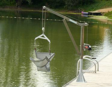 Manual Lift For Boat Access For People With Disabilities
